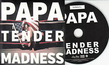 PAPA Tender Madness 2013 UK numbered 12-track promo CD + press release