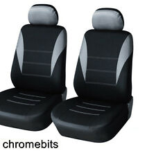 FRONT GREY BLACK FABRIC SEAT COVERS FIAT PANDA STILO GRANDE PUNTO 500 BRAVO MPV