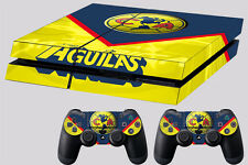 america skin ps4 dualshock controller #95 real madrid mexico soccer aguilas