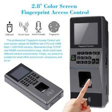 Biometric Fingerprint Access Control System TCP/IP Attendance Machine USA A9E5