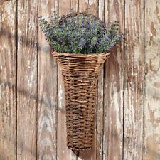 Wicker Wall Basket w/Handle Home Decorating Accent