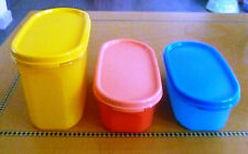 Tupperware Free Shipping New Modular Oval Mate Set 3 Dry Storage Cap 1 L, 2 cups