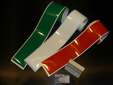 3 bandes / strip decal italian colors 90mm stickers pegatinas fiat ferrari alfa