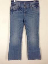 FAMOUS CATALOG BY LONDON JEAN DISTRESSED BOOT CUT MEDIUM WASH JEANS INS. 31.5 SZ