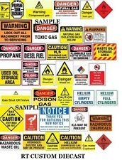 1/18 WARNING signs #2 (2 sheets) - for your shop/garage/diorama/accessories