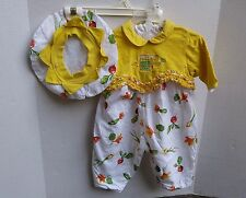 Baby Mini Par Catimini Romper and Beret Hat 6 Months 67 cm