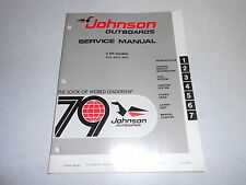 1979 4 hp Johnson Evinrude Outboard Repair & Service Manual 4hp