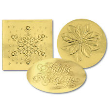 Gold Variety Pack Christmas Card Seals 40/pk