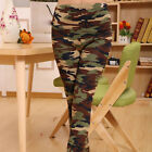 Women Lady Sexy Army Retro camouflage Stretch Leggings ankle-length pants