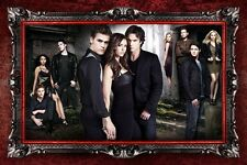 "The Vampire Diaries TV Show Silk Cloth Poster 36 x 24"" Decor 74"