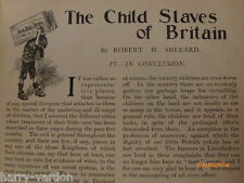 Child Slavery Slaves of Britain Old Edwardian Mines Morality NSPCC  Article 1904