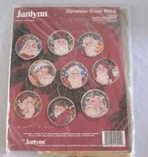 Janlynn Christmas Cross Stitch Kit 9 Santa Ornaments #125-55 Donna Giampa New