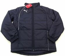 NWT New Puma Men's Size Large Navy Blue Padded Waterproof Coat Detachable Sleeve
