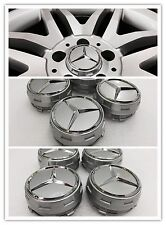 MERCEDES AMG EDITION WHEEL CENTRE CAPS 75MM FITS A B C E SLK CLASS C63 A45 STYLE