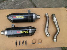 SUZUKI GSXR 1000 07-08 AKRAPOVIC TITANIUM/CARBON  ROAD-LEGAL SLIP-ON EXHAUST!!