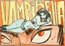 Vampirella 2011 Trading Cards Sketch Card drawn by Alex Riegel /2
