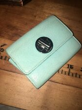 Tiffany & Co. Tiffany Blue Grain Leather Compact Wallet