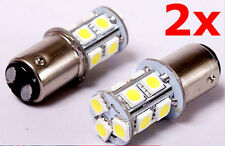 2 x BAY15D 13 SMD LED 1157 Dual Filament Brake Stop Tail Light Bulb Globe White