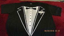 Tuxedo Tux T-shirt Port & Company Pre-shrunk NICE MEDIUM