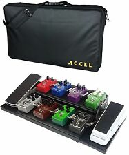 Accel  XTA15 Guitar Effects Pedal board and 2 Extension Plates with Case