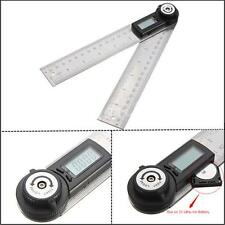 2-in-1 Lcd Digital Angle Finder Meter Ruler Measurer 200MM 360°Degree Protractor