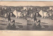 Carte postale stéréoscopique MAROC MOROCCO 13 LL TANGER pélerins