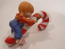 Country Cousins Figurines Enesco Vintage Porcelain Christmas Ornament 1987