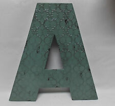 """INDUSTRIAL BLUE METAL 20"""" WALL LETTER  """" A """"  VINTAGE STYLE RUSTIC DECOR"""