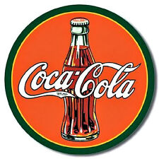 "Coke ""Coca Cola 1930's Bottle and Logo""  Tin Metal Sign"