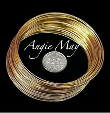 WHOLESALE LOT! 65 Gold Stainless BRACELET MEMORY WIRE