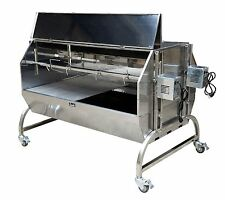 Double Stainless Steel BBQ,Pig,Lamb,Goat,Chicken Spit Roaster,Souvla-Model SSD1