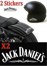 2 stickers autocollant Jack Daniel's sticker deco casque moto, voiture, scooter