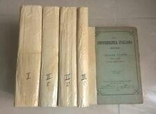 DELLA INDIPENDENZA ITALIANA CRONISTORIA DI CESARE CANTU' 1876 OPERA COMPLETA 5 V