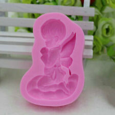 Baby Angel Fondant Cake Topper Decor Mould Chocolate Mold Silicone Kitchen DIY
