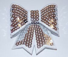 3D sequin bow hotfix iron on Motif patch Lace Wedding xmas costume Applique