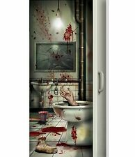 5ft Creepy Bloody Severed limbs Bathroom DOOR COVER Halloween party decoration
