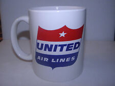 UNITED AIRLINES COFFEE CUP MUG AIRPLANE PILOT F/A CHRISTMAS OR FATHERS DAY GIFT