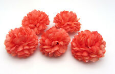 10 pcs Daisy Artificial flower Silk Spherical Heads Bulk Wedding Decor Coral 5CM