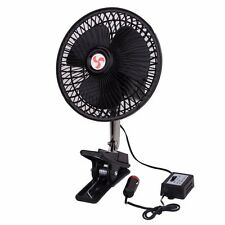 Zone Tech 12V Dashboard Oscillating Cooling Clip On Fan Portable Car Vehicle
