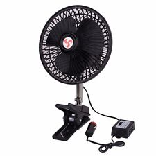 Zone Tech Car Fan Clip Rv Oscillating Vehicle Dashboard Portable 12v Desk Bed