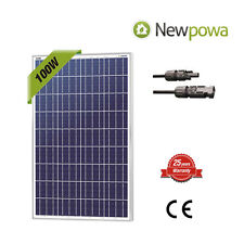 NewPowa High Quality 100W  12V Poly Solar Panel 100 Watts Module RV W/ 3FT MC4