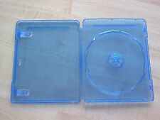 100 Blu-Ray Disc Single DVD Case Movie Box Blue BL8M