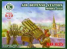 UM-MT Models 1/72 Soviet MODEL 1931 AIR DEFENSE STATION Quad Maxim Machine Guns