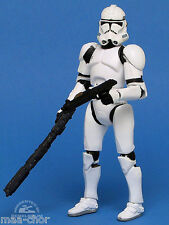 Star wars loose rots rare white clone trooper en rapide draw attack mint. C-10+