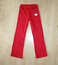 SANRIO Hello Kitty Red Frilly Sweat Pants Lounge Trousers Bottoms Sz 10 yrs