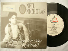 NEIL NICHOLAS TOO BUSY EARNING A LIVING FLY AWAY pyramid / pyr 11 PROMO STICKER