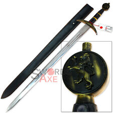 Richard the Lionheart Sword Replica Lion Crested Stainless Steel Longsword