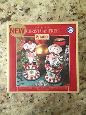 SPODE CHRISTMAS TREE Nutcracker Peppermint Salt & Pepper Shakers NEW