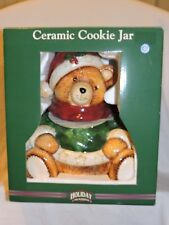 Holiday Seasons Christmas Bear Cookie Jar - New - Not used - Ceramic