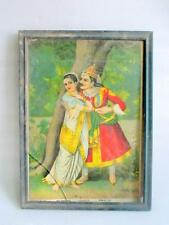 Vintage Old Rare Collectible Indian Lover Rati Madan Prem R.U Press Litho Print